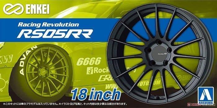 Aoshima 1/24 Enkei RS05RR 18 Inch Wheels # 06119