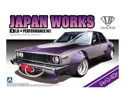 Aoshima 1/24 Nissan Skyline LB Japan Works 4 Door Custom # 00980