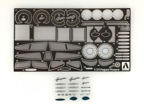 Aoshima 1/24 Pagani Huayra No.7 Photo-Etched & Detail-Up Parts Set # 010921