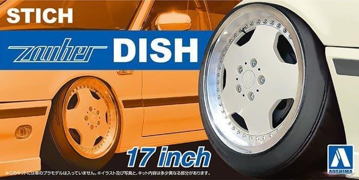 Aoshima 1/24 Stich Zauber Dish 17 Inch Wheels # 06117