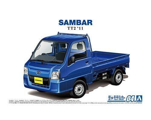 Aoshima 1/24 Subaru TT2 Sambar WR Blue Limited '11 # 05828