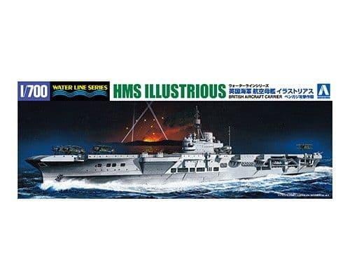 Aoshima 1/700 British Aircraft Carrier HMS Illustrious # 05941