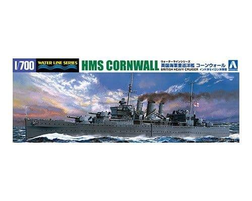 Aoshima 1/700 British Heavy Cruiser HMS Cornwall # 05672