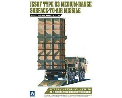 Aoshima 1/72 JGSDF Type 03 Medium-Range Surface-to-Air Missile # 05539