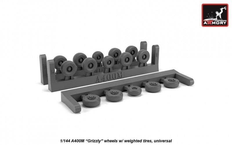 "Armory 1/144 Airbus A400M ""Grizzly"" Wheels with Weighted Tires (Universal) # AW14503"