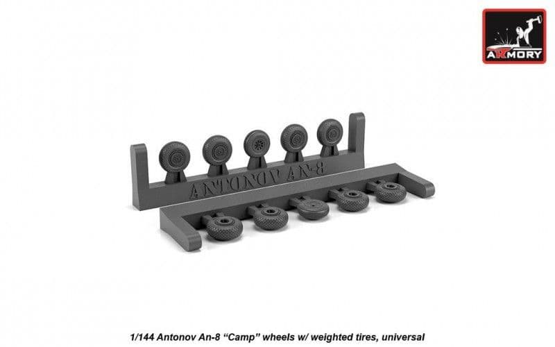 "Armory 1/144 Antonov An-8 ""Camp"" Wheels with Weighted Tires (Universal) # AW14015"