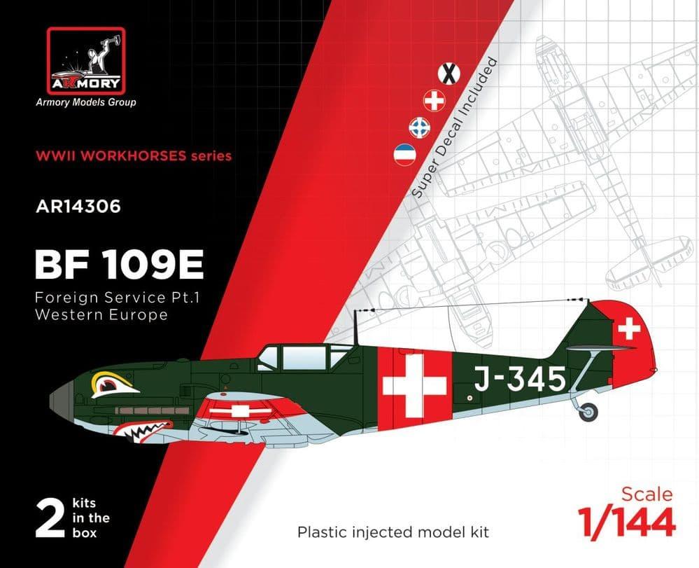 """Armory 1/144 Messerschmitt Bf-109E """"Foreign Service Pt. 1 Western Europe"""" # 14306"""