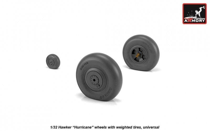 """Armory 1/32 Hawker """"Hurricane"""" Wheels with Weighted Tires (Universal) # AW32403"""