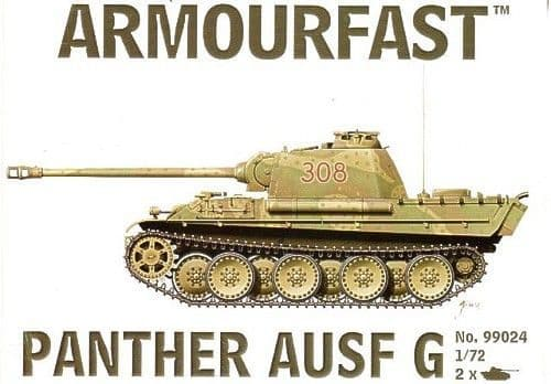 Armourfast 1/72 Panther Ausf. G (2 snap together kits) # 99024