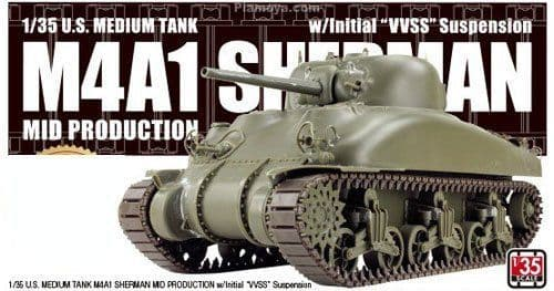 Asuka 1/35 M4A1 Sherman Mid Production Medium Tank w/Initial