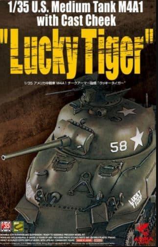 "Asuka 1/35 U.S. M4A1 Sherman ""Lucky Tiger"" Medium Tank with Cast Cheek # 35035"