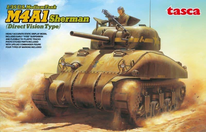 Asuka 1/35 U.S. M4A1 Sherman Medium Tank (Direct Version Type) # 35025