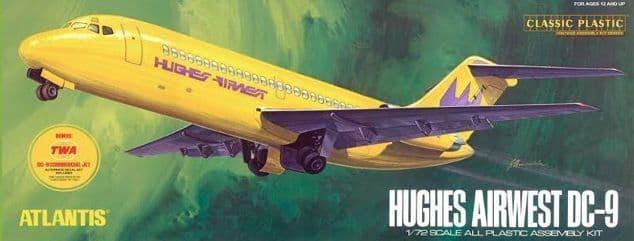 Atlantis 1/72 Douglas DC-9 Airliner Jet Hughes Airwest # AMC6004