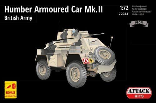 Attack 1/72 Humber Armoured Car Mk.II - British Army # 72933