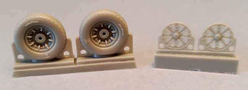 Attack Squadron 1/48 F4U Corsair Block Thread Wheels Set # 48068