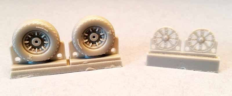 Attack Squadron 1/48 F4U Corsair Ribbed/Diamond Thread Wheels Set # 48070