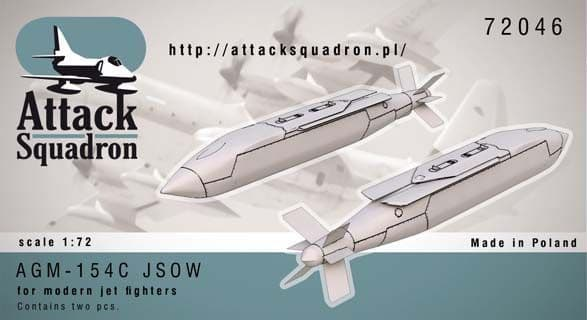 Attack Squadron 1/72 AGM-154 JSOW C Glide Bomb 2pcs # 72046