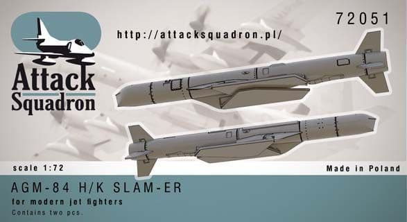 Attack Squadron 1/72 AGM-84 SLAM-ER Cruise Missile 2 pcs # 72051