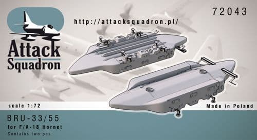 Attack Squadron 1/72 BRU-33/55 canted Vertical Ejector Rack # 72