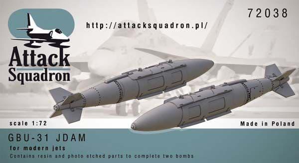 Attack Squadron 1/72 GBU-31 JDAM 2000 lb # 72038