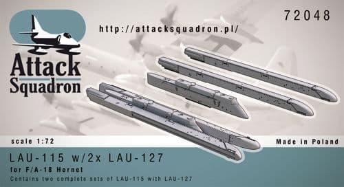 Attack Squadron 1/72 LAU-115 w/2 x LAU-7 # 72048