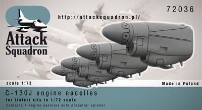 Attack Squadron 1/72 Lockheed C-130J Hercules Engine Nacelles &