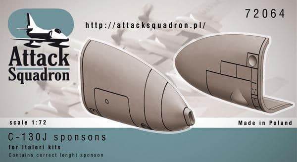 Attack Squadron 1/72 Lockheed C-130J Hercules Sponson Correction