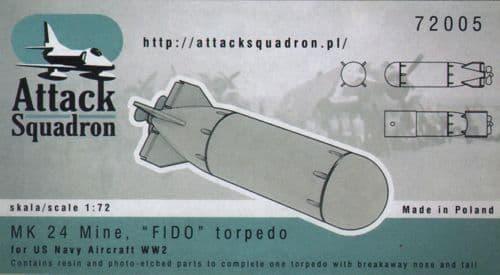Attack Squadron 1/72 MK 24 Mine FIDO Torpedo # 72005