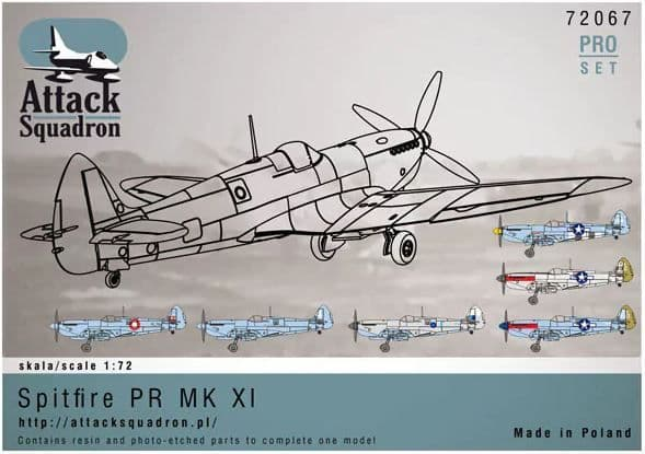 Attack Squadron 1/72 Supermarine Spitfire Mk.XI Pro Set # 72067