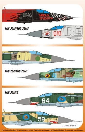Authentic Decals 1/32 MiG-23M/MiG-23MF Flogger B # 3201