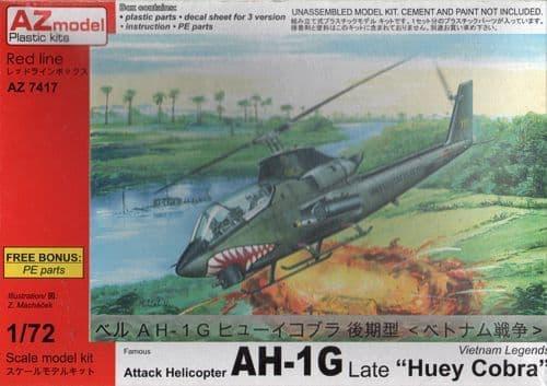"AZ Model 1/72 Bell AH-1G Huey Cobra Late ""Vietnam War"" w/PE # 74017"