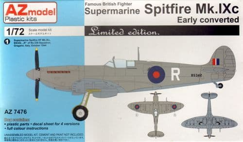 AZ Models 1/72 Supermarine Spitfire Mk.IXC Early (conv.) LE # 74076