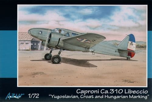 Azur 1/72 Caproni Ca.310 Yugoslavian, Croatian and Hungarian Markings # 8872
