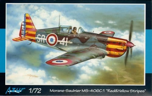 "Azur 1/72 Morane-Saulnier MS.406C.1 ""Red & Yellow Stripes"" # 11472"