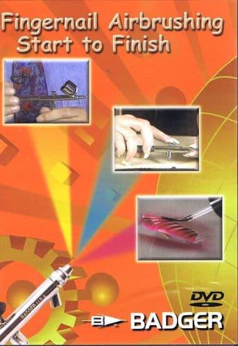 Badger DVD Fingernail Airbrushing Start to Finish # BD-105