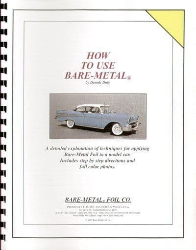 Bare-Metal - Booklet on How to use BARE METAL FOIL on Model Cars # BMBOOK1