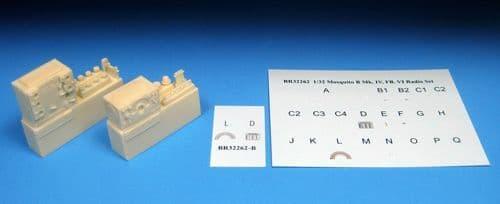 Barracuda 1/32 Mosquito WWII Radio Upgrade Set # 32262
