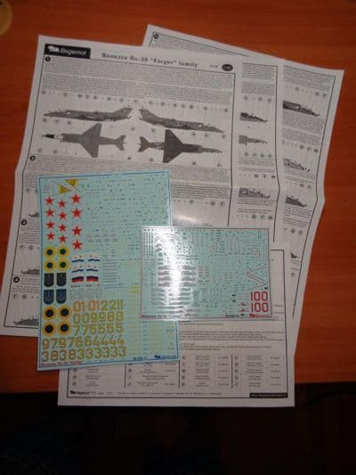 "Begemot 1/48 Yakovlev Yak-38 ""Forger"" Family with Stencils # 4828"