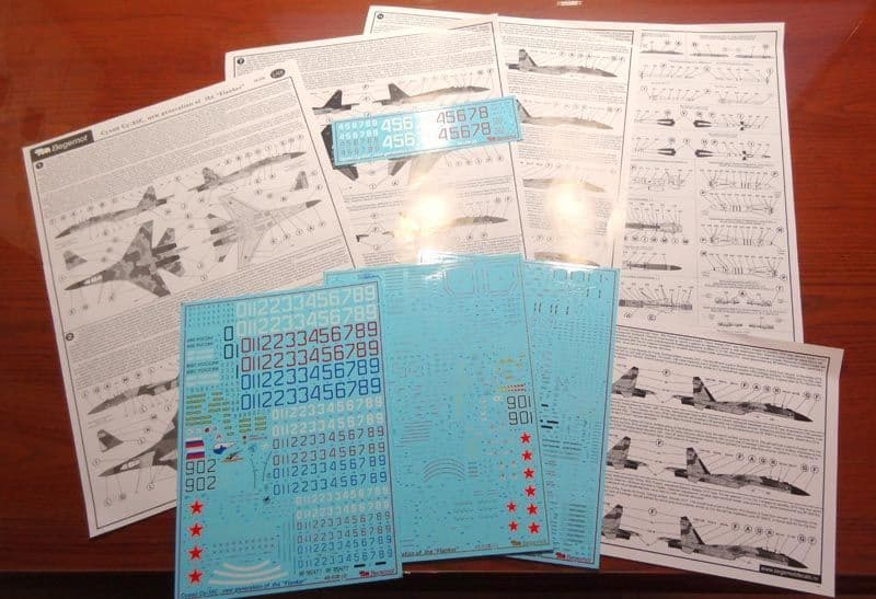 "Begemot Decals 1/48 Sukhoi Su-35S New Generation of the ""Flanker"" # 48039"