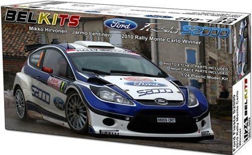 Belkits 1/24 Ford Fiesta S2000 2010 Rally Monte Carlo Winner # BEL002