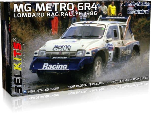 Belkits 1/24 MG Metro 6R4 Lombard RAC Rallye 1986 Jimmy McRae & Ian Grindrod # BEL-016