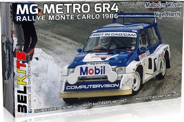Belkits 1/24 MG Metro 6R4 Rallye Monte Carlo 1986 Malcolm Wilson & Nigel Harris # BEL-015