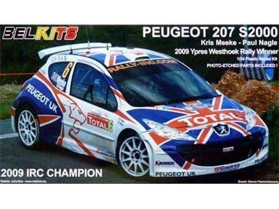 Belkits 1/24 Peugeot 207 S2000 2009 IRC Champion # BEL001