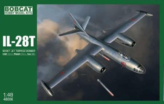 "Bobcat Models 1/48 Ilyushin IL-28T ""Beagle"" Soviet Jet Torpedo Bomber # 48006"