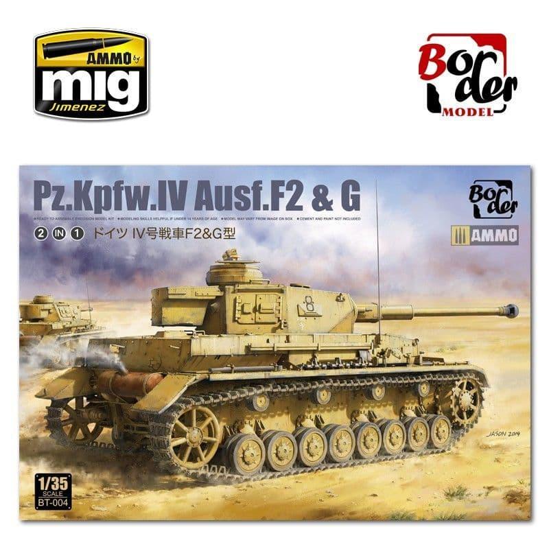 Border 1/35 Pz.Kpfw.IV Ausf. F2 & G (2 in 1) # BT004