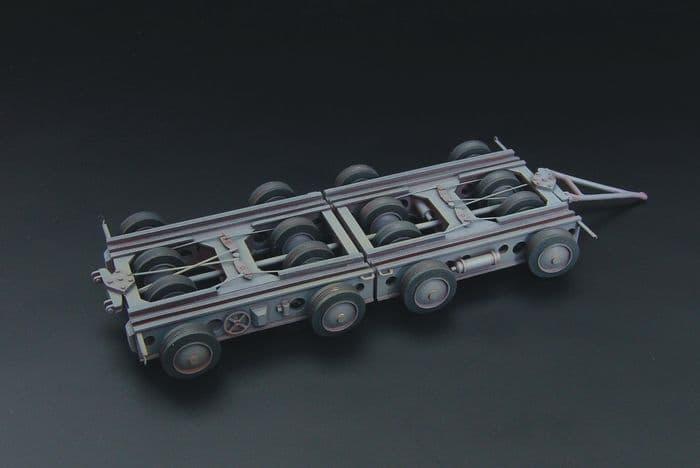 Brengun 1/144 Culemeyer Four Axles German Heavy Trailer Resin Construction # S144047