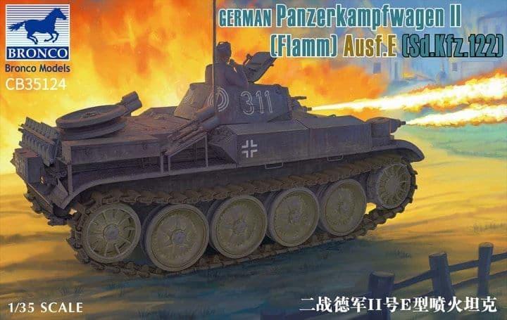 Bronco Models 1/35 Panzerkampfwagen II Flamm Ausf.E (Sd.Kfz.122) # CB35124