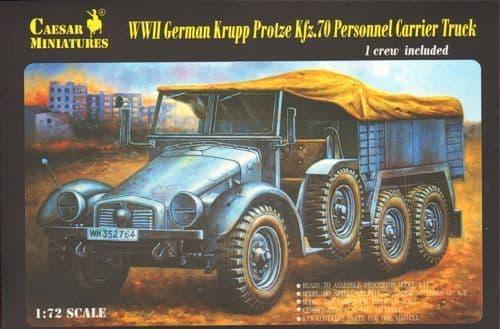 Caesar Miniatures 1/72 Krupp Protze Kfz. 70 Personnel Carrier Truck # 7207