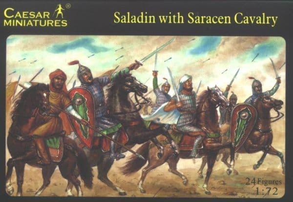 Caesar Miniatures 1/72 Saladin with Saracens Cavalry # 018