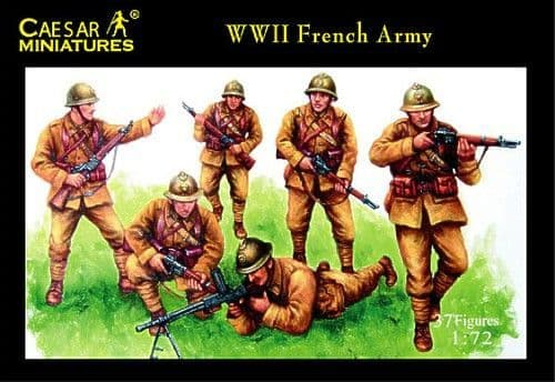 Caesar Miniatures 1/72 WWII French Army # 038